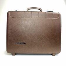 Vtg Starflite Brown-Copper Hard Shell Briefcase Attache Travel Case w/Key