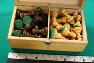 Made in France chess pieces - complete set of 32 pieces in wooden box