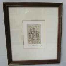 Vintage Intaglio Dry Point Etching Signed John C Murray 18/40