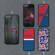 Atlanta Braves Phone Case For iPhone 11 Pro X XS Max 8+ 7 6 Plus Black Cover