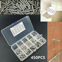 Multipurpose 450pcs M2 M3 M4 Stainless Steel Cylindrical Pin Set Fastener w/ Box