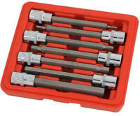 7pc Extra Long Hex Bit Socket Set Allen Key Socket Tool 110mm long 3 -10mm 3/8dr