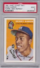 1991 Topps 1954 HENRY HANK AARON rookie Reprint PSA 9 MINT East Coast National