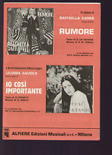 SPARTITO SHEET MUSIC RAFFAELLA CARRA' RUMORE / LILIANA SAVOCA IO COSI' IMPORTANT