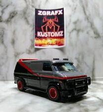 Hot Wheels! Custom! The A Team Van .. Real Rider's, Metal/Metal.. LOOSE! ..