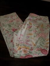 Ralph Lauren LAUREN Cropped PANTS 6 Floral Print Cotton Spandex