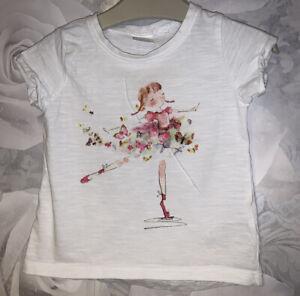 Girls Age 9-12 Months - Next Short Sleeved Top