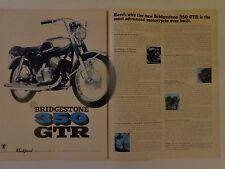 1967 vintage motorcycle magazine print ad bridgestone 350 GTR rockford motor
