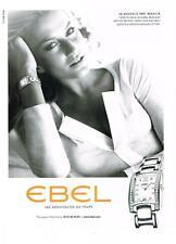 PUBLICITE ADVERTISING    2006   EBEL  collection BRASILIA montres