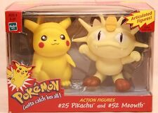 """Pokemon 5"""" Two-Packs Pikachu and Meowth Articulated Figures by Hasbro (MIB)"""