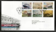 GB 2004 FDC Ocean Liners special handstamp Southampton, stamps