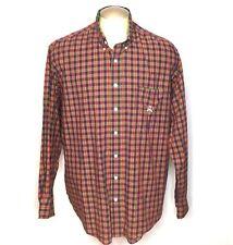 Cinch USA Mens Shirt L Purple Red Green Plaid Checked Button Down Long Sleeve