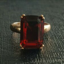 4.50ct. Lab-Created Ruby Stone Emerald Cut Ring