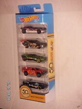 HOT WHEELS 2018  HW 50 TRACK STARS  5-PACK DIE-CASTS GIFT PACK  50th ANNIVERSARY