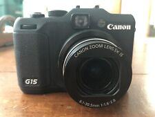 Canon PowerShot G15 Camera EUC & Original Canon WP-DC48 Underwater Housing