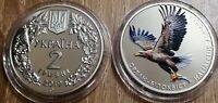 NEW!! Ukraine - 2 Hryven 2019 Haliaeetus Albicilla White-tailed eagle UNC