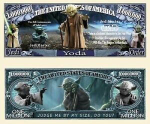 Pack of 50 - Star Wars Yoda Collectible Novelty Dollar Bills Limited Edition