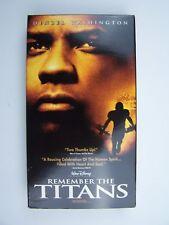Remember the Titans VHS Video Tape Denzel Washington