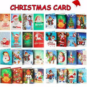 5D DIY Diamond Painting Christmas Cards Mosaic Art Kits Greeting Postcards