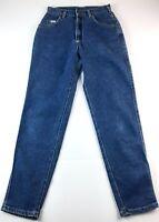 Vtg Lee Women's Dark Wash Denim High Rise Tapered Mom Jeans Size 8