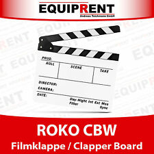 ROKO CBW Filmklappe / Regieklappe / Clapper Board / Slate (weiss) EQZ99