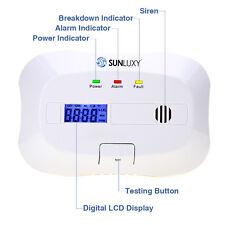 SUNLUXY CO Gas Melder Gasmelder Gaswarner Sensor Alarm Rauchmelder Feuermelder
