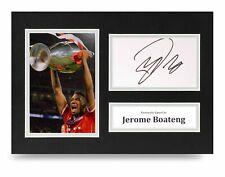 Jerome Boateng Signed A4 Photo Display Bayern Munich Autograph Memorabilia