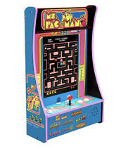 New ListingMs Pac-Man Arcade1Up 8 Games in 1 PartyCade Home Tabletop Or Wall Arcade Machine