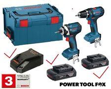 Bosch GSB 18-Li & GDR 18-Li Combi & Impact Drive Set 0615990FS2 3165140775007