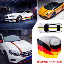 "79""/2M Germany Flag Stripe Auto Body Modifield Vinyl Sticker Emblem Decor Decals"