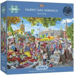 Gibsons Market Day, Norwich Jigsaw Puzzle (1000 Pieces) - DAMAGED