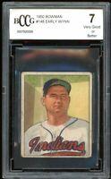 1950 Bowman #148 Early Wynn Card BGS BCCG 7 Very Good+