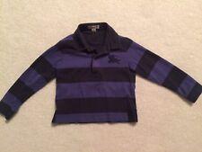 Burberry baby boy blue black strip long sleeve shirt 2Y/92cm