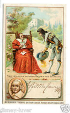 Victorian Trade Card BENSDORP DUTCH COCOA Interview Mazarin & Richelieu