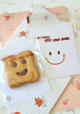Smile Man Cello Bags 20pc kawaii cookie candy packaging OPP gift wrap favour bag