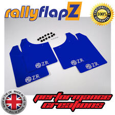 rallyflapZ ROVER MG ZR (01-05) Hatchback Mud Flaps Blue 3mm PVC Logo Silver