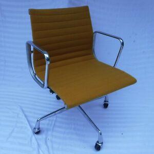 Refurbished Herman Miller Eames Aluminum Group Management Chair  - Yellow/Orange