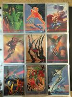 1993 Marvel Masterpieces Trading Cards COMPLETE BASE SET, #1-90 Near Mint/Mint!