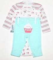 Carter's Baby Girl 3-Piece 3M Blue Pink Floral Striped Bodysuits Pants Spring