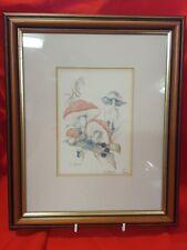 Rosemary J Balcer Framed Limited Edition art print Mushrooms 143/300  Signed   w