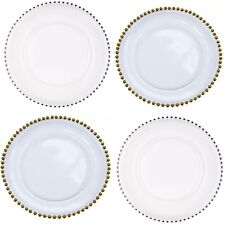 HIRE ONLY! Beaded GLASS Charger Plates for Weddings events and dinner parties!