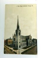 Chicago Illinois Holy Name Cathedral Vintage Postcard