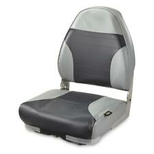 NEW GUIDE GEAR High-Back Folding Boat Seat Gray/Navy