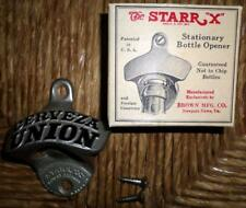 "NOS Vintage Starr X ""Cerveza Union"" Metal Bottle Opener w/Box & Screws NICE L5"