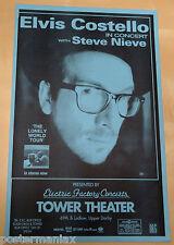ELVIS COSTELLO Original 1999 Concert Poster - Philadelphia