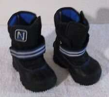 NEW Nautica Port Toddler Boys Girls Insulated Winter Boots 6 Black/Blue MSRP$50