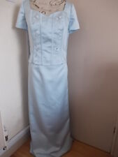 Ladies Light Blue Top And Long Skirt (10) Chest 36 ins Waist 34 inss