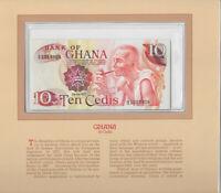 Most Treasured Banknotes Ghana 1978 10 Cedis P-16f UNC Birthday 1980 A/2 1019809