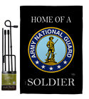 Home of National Guard Soldier Garden Flag Armed Forces Army Yard House Banner