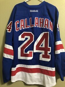 RYAN CALLAHAN #24 NEW YORK RANGERS SEWN RBK AU NHL JERSEY ADULT SIZE: 54